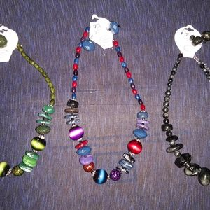 3 CHUNKY ACRILIC NECKLACE SETS